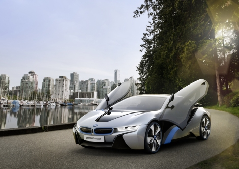 BMW i8 Concept. Featured in M:I-GP